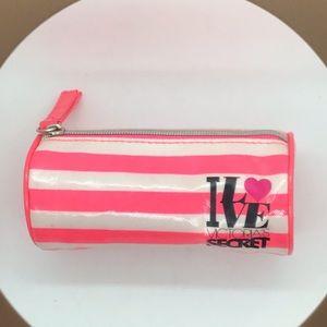 Victoria's Secret Mini Bag Striped Pink White Rare